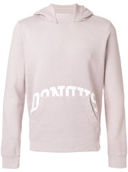 Dondup Front Pocket Hoodie Pink And Purple