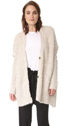 Free People Boucle Cadi Sweater Ivory