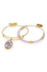 Alex And Ani Tree Of Life Set Of 2 Adjustable Wire Bangles Gold