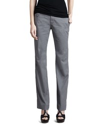 Christopher Blue Rosie Relaxed Dobby Trousers Women's