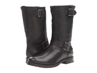Frye Natalie Mid Engineer Black Tumbled Full Grain Women's Boots