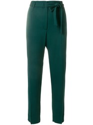 Mauro Grifoni Belted Cropped Trousers Green