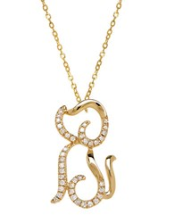 Lord And Taylor 14K Yellow Gold Diamond Dog Necklace Diamond Gold