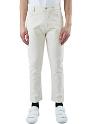 Marius Petrus Oversized Selvedge Denim Pants Cream