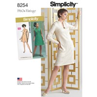 Simplicity Vintage Women's And Plus Size 1960S Dresses Sewing Pattern 8254