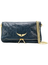 Zadig And Voltaire Rock Crush Shoulder Bag Blue