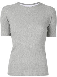 Kacey Devlin Ribbed Fit T Shirt Grey