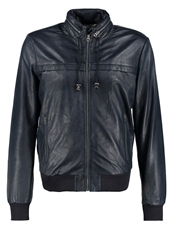 Pepe Jeans Spike Leather Jacket Airforce Blue Dark Blue