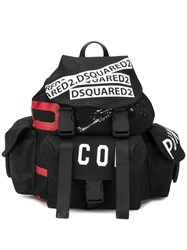 Dsquared2 Logo Tape Backpack Black