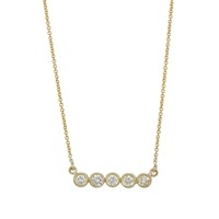 Jennifer Meyer Bezel Pendant Necklace