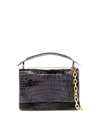 Nancy Gonzalez Crocodile Top Handle Bag W Chain Strap Multi