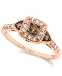 Chocolate By Petite Le Vian Chocolate And White Diamond Ring 3 8 Ct. T.W. In 14K Rose Gold