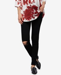 A Pea In The Pod Articles Of Society Maternity Distressed Black Wash Ankle Jeans