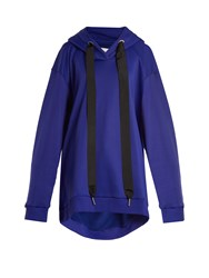 Marques Almeida Asymmetric Hem Oversized Hooded Sweatshirt Blue