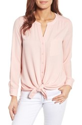 Pleione Women's Mixed Media Top Pink Blossom