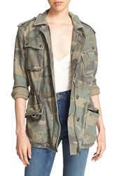 Free People Women's 'Not Your Brother's' Utility Jacket Green Combo