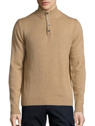 Saks Fifth Avenue Cashmere Blend Sweater Camel Purple