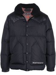 Mastermind Japan Leather Panelled Puffer Coat 60