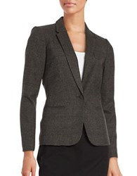 Calvin Klein Plaid One Button Blazer Grey