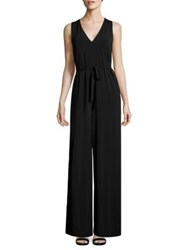Lafayette 148 New York Belted Jumpsuit Black