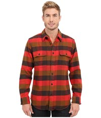 Filson Vintage Flannel Work Shirt Red Mackinaw Buffalo Men's Clothing
