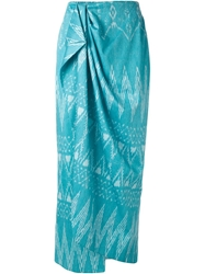 Baja East Draped Wrap Skirt