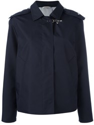 Fay Hooded Cropped Jacket Blue