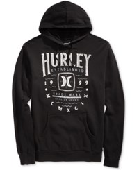 Hurley Men's Nomad Graphic Print Hoodie Black