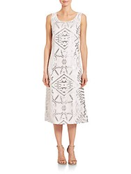 Lafayette 148 New York Jacquard Lola Dress White Multicolor