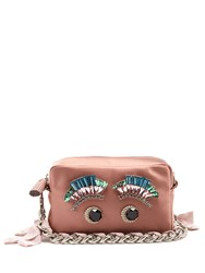 Anya Hindmarch Eyes Satin Clutch Pink Multi