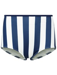 Solid And Striped Navy Cream Brigette Pant Light Blue