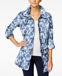 Styleandco. Style And Co. Hooded Printed Anorak Jacket Only At Macy's Blue