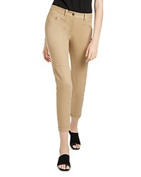 Halston Heritage Slim Tapered Ankle Pants Thyme