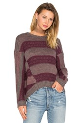 Lamade Syrah Pullover Sweater Burgundy