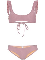 Made By Dawn Petal Frill Detail Bikini Pink