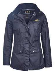 Barbour International Switch Waxed Parka Navy