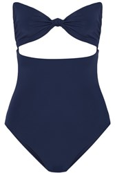 Mara Hoffman Knotted Cutout Swimsuit Storm Blue