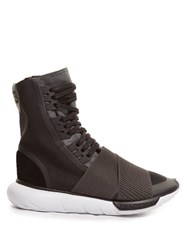 Y 3 Qasa Boot High Top Trainers Black