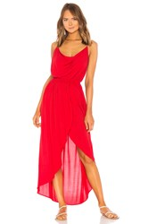 Indah Eden Cowl Neck Maxi Dress Red