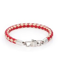 Bally Woven Leather Bracelet Bally Red