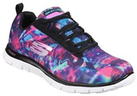 Skechers Flex Appeal Cosmic Rays Trainers Black Multi
