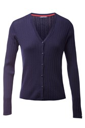 Tommy Hilfiger Erca Cable Knit Cardigan Navy