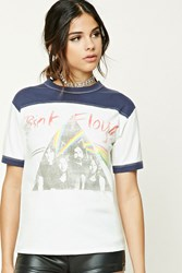Forever 21 Pink Floyd Graphic Band Tee White Red