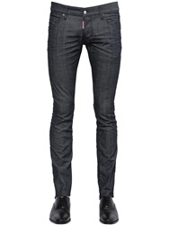 Dsquared 18.5Cm Sexy Boot Cut Dark Stretch Jeans Blue