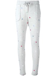 Zoe Karssen Embroidered Heart Track Pants Grey