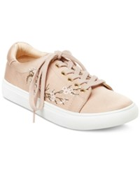 Nanette Lepore By Winona Blossom Lace Up Sneakers Women's Shoes Blush