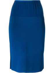 Lanvin Loose Mid Length Skirt Blue