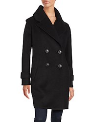 Derek Lam Long Sleeve Double Breasted Coat Navy