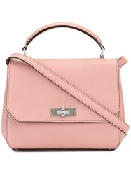 Bally Removable Strap Tote Pink Purple