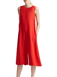 French Connection Manhatten Solid Jumpsuit Margo Red